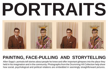 portraits: painting, face-pulling and  storytelling